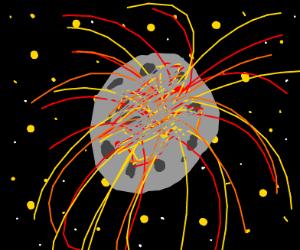 Moon explodes!