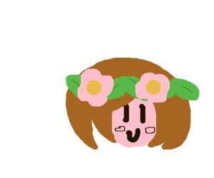 anime girl flower crown