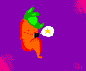 Carrot texting Star