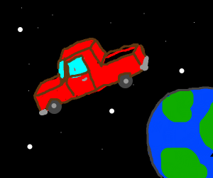 Truck driven in space!