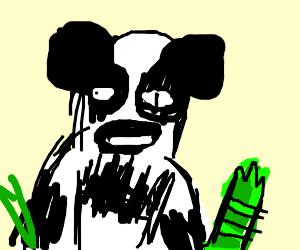 Draw a panda human