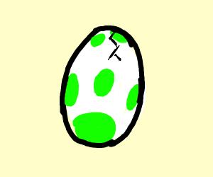 Yoshi egg hatching