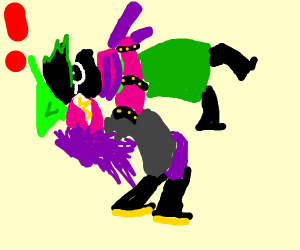 Susie suplexing Ralsei, just because she can