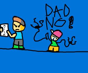 dad left for milk sad