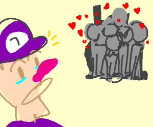 Waluigi surprised at the support he's getting
