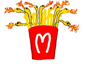 Fire breathing snake fries Ron Weasly