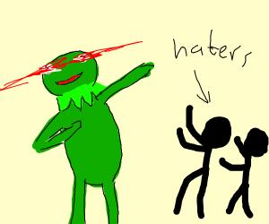 "Kermit is ""Dabbing on dem haters"""