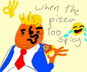 Pizza was too spicy