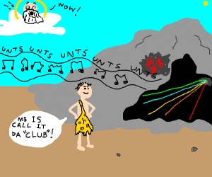 God says wow at man inventing club