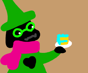 Ralsei eating cake.