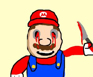 mario.exe hyper realistic blood eye spooky!!!