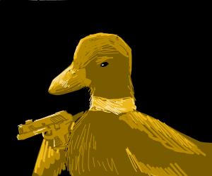 Duck with a gun