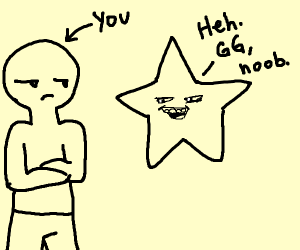 Star congratulates/mocks you