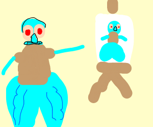squidward with nice ass paints self portrait