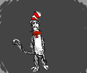 depressed cat in the hat