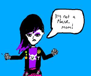 emo girl tells her mom that it's not a phase
