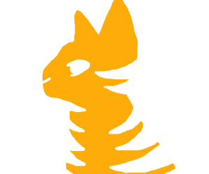 orange cat with white stripes looking away