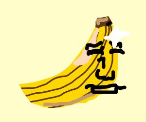 A beautiful glorious realistic banana.