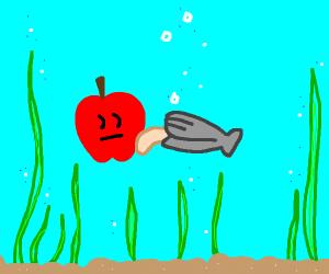 clam eats apple
