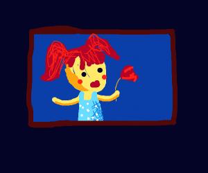 Framed photo of a girl