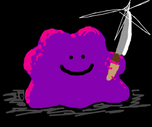 ditto with a knife