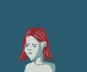 Meloncholy Red Haired Woman