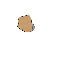potato in white hole