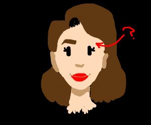 Drawing 1 eyebrow