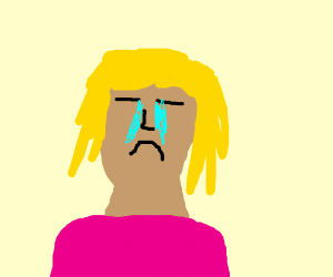 sad blonde girl