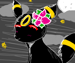 umbreon with a flower pin