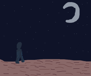 Crossing the desert at night