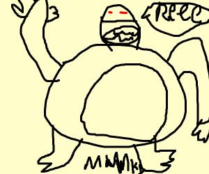 Ape screeching