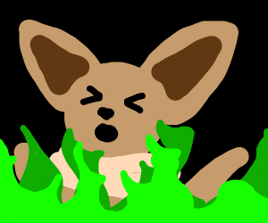 Eevee in everlasting green flames