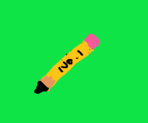 Pencil written #1