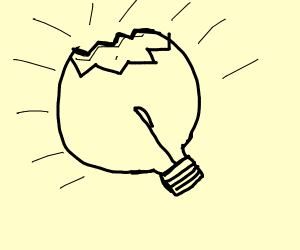 lightbulb breaking