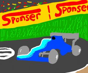 Fast blue Car