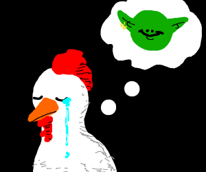 Chicken misses his goblin friend