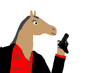Horse-man with a gun