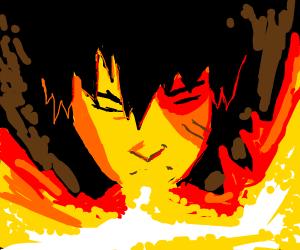 Zuko breaths fire