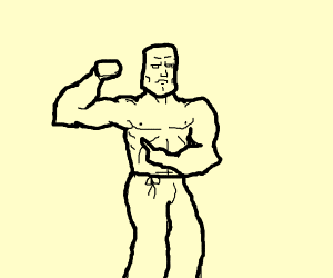 buff man flexing