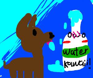 Dog marrying Icecube - Drawception