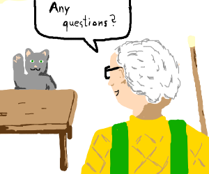 Cat has a question