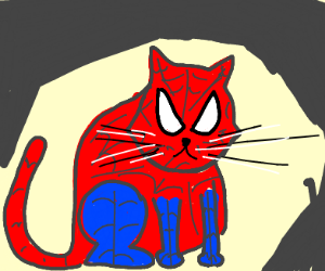 Spider-Man but a cat