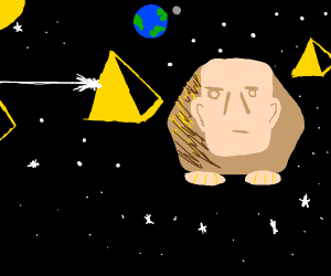 Sphinx is in outer space now