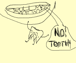 Tooth jumps out of mouth