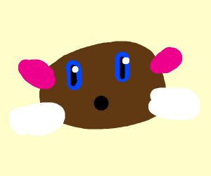 Brown Kirby with white shoes