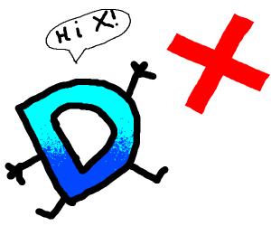 Drawception D talks to X