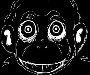 demon monkey face