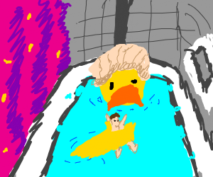 A Bird Bathing