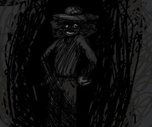Creepy man resides in the dark